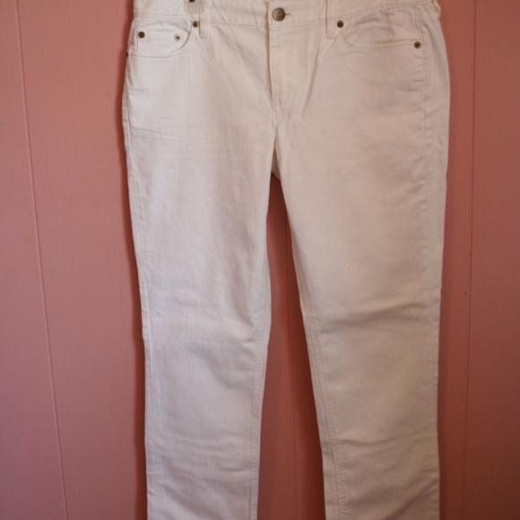 J. Crew Matchstick Jean Jeans in White Denim 32S